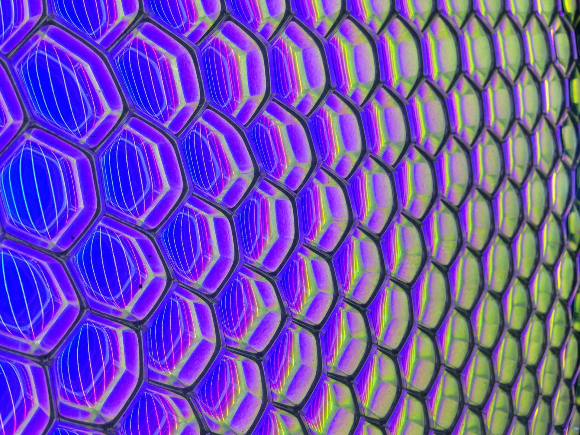 Decorative glass panels - B-Glow purple cells