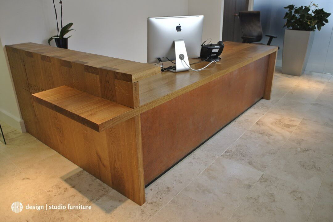 Bespoke furniture design - Mykon front desk