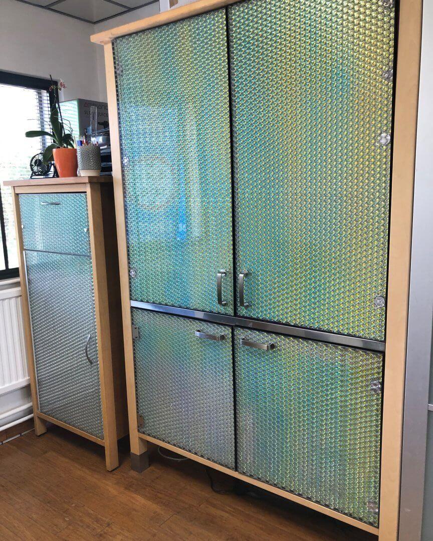 Furniture by Mykon using toughened glass panels