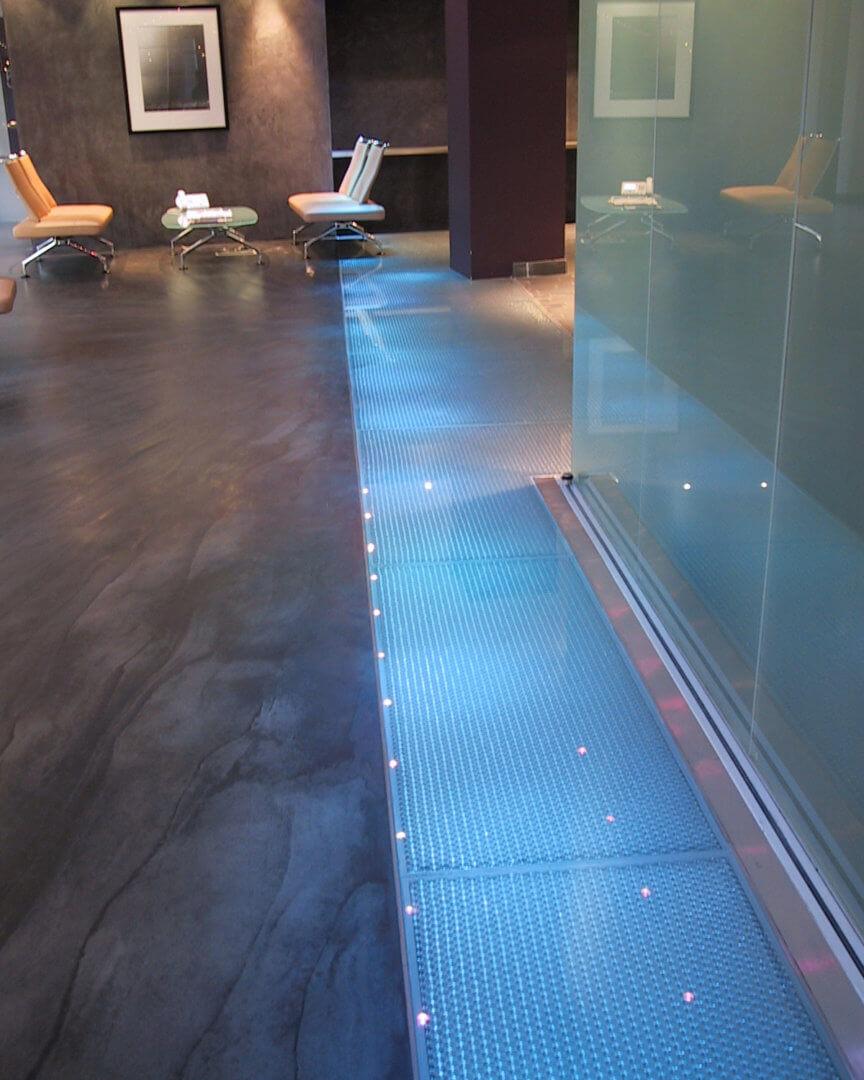 Glass flooring by Mykon