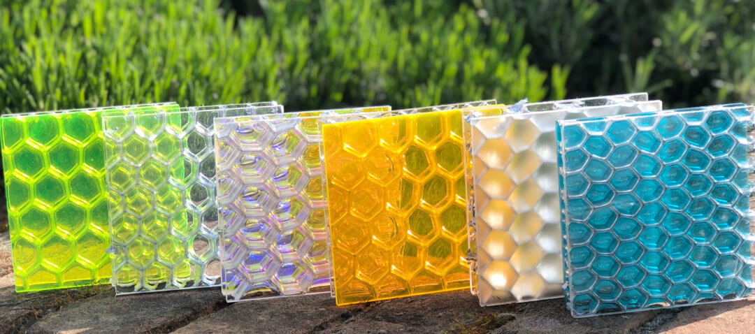 Transparent honeycomb panels by Mykon