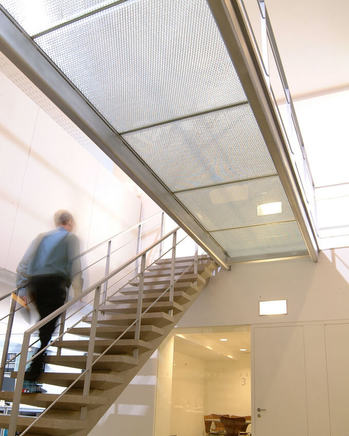 Walkway made from Mykon's B-Clear panels