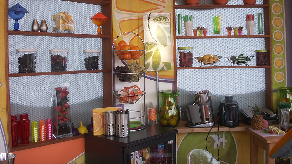 Kitchen panels made with Mykon's decorative composite panels